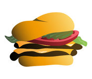 Hamburger on bun Royalty Free Stock Photos