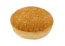 Hamburger bun or bread on a white background Stock Images