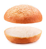 Hamburger bun. Isolated on white background Clipping Path Royalty Free Stock Images