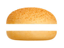 Hamburger bun. On a white background stock photo
