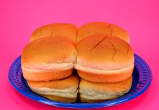 Hamburger buns Stock Photos