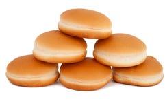 Hamburger buns isolated Royalty Free Stock Image