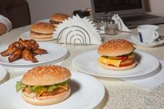 Hamburger, Burger stockbild