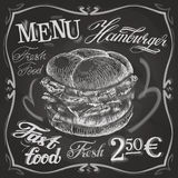 Hamburger, burger vector logo design template Stock Image