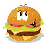 Hamburger cartoon Royalty Free Stock Photo