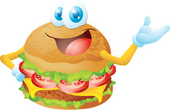 Hamburger cartoon Royalty Free Stock Photos