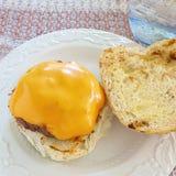 Hamburger casalinghi Fotografia Stock