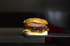 hamburger casalingo delizioso immagine stock