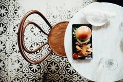 hamburger in Casco Viejo, Panama royalty-vrije stock afbeeldingen