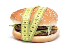 Hamburger and centimeter Royalty Free Stock Image