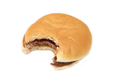 Hamburger with cheese. A picture of an hamburger with cheese stock photo