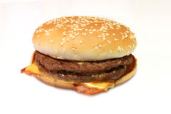 Hamburger with cheese. A picture of an hamburger with cheese royalty free stock photo