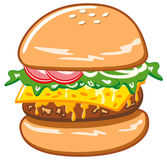 Hamburger with cheese Stock Photography