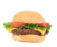 Hamburger with cheese and ketchup. Royalty Free Stock Photo