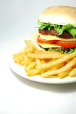 Hamburger (cheeseburger) Royalty Free Stock Image