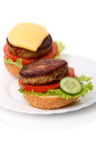 Hamburger and cheeseburger Stock Photo