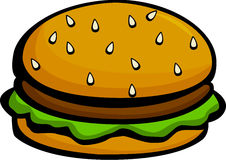 Hamburger or cheeseburger vector illustration. Vector illustration of a hamburger or cheeseburger Royalty Free Stock Photography