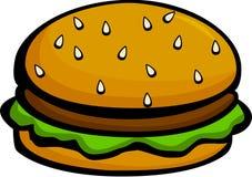 Hamburger or cheeseburger vector illustration. Vector illustration of a hamburger or cheeseburger vector illustration