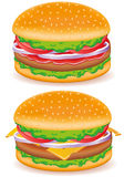 Hamburger and cheeseburger vector illustration Stock Photography