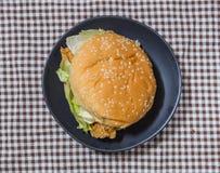Hamburger with chicken Royalty Free Stock Photos