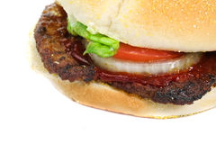 Hamburger close up Stock Images