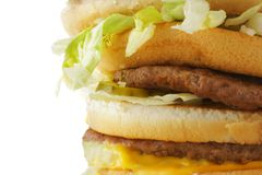 Hamburger close-up Royalty Free Stock Images