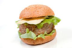 Hamburger close-up Royalty Free Stock Photo