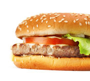 Hamburger closeup Royalty Free Stock Image