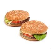 Hamburger closeup Stock Photo