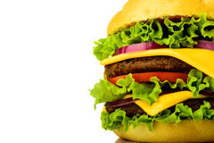 Hamburger closeup detail Stock Photos
