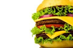Hamburger closeup detail Stock Photos