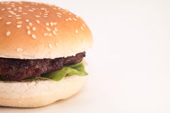 Hamburger closeup Stock Photos