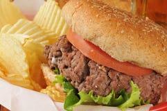Hamburger closeup Royalty Free Stock Photo