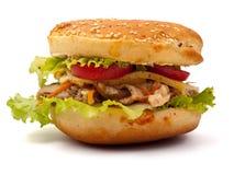 Hamburger closeup view Stock Image
