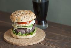 Hamburger and cola Royalty Free Stock Photos