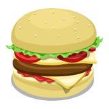 Hamburger color vector illustration Stock Photography