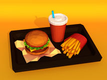 Hamburger combo Royalty Free Stock Image