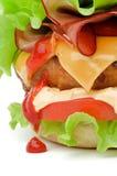 Hamburger con bacon Immagine Stock Libera da Diritti