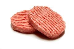 Hamburger con il percorso di residuo della potatura meccanica Immagine Stock Libera da Diritti