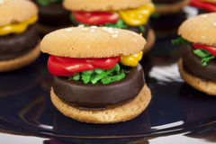 Hamburger Cookie Treats Stock Image