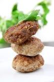 Hamburger, cotolette Fotografia Stock Libera da Diritti