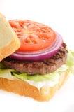 Hamburger cuit par maison photographie stock