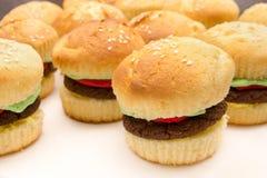 Hamburger Cupcakes. Several cupcakes made in the style of hamburgers Royalty Free Stock Image