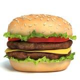 Hamburger. 3d illustration of a hamburger Royalty Free Stock Images