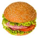 Hamburger d'isolement Photographie stock libre de droits