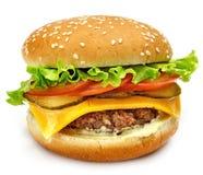 Hamburger d'isolement Photos stock