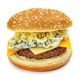 Hamburger d'isolement Images libres de droits