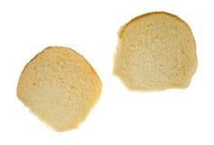 Hamburger da semente de sésamo aberto em um fundo branco Fotografia de Stock Royalty Free