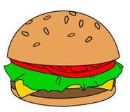 Hamburger de bande dessinée illustration de vecteur