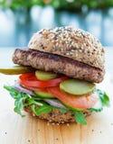 Hamburger de boeuf maigre photographie stock